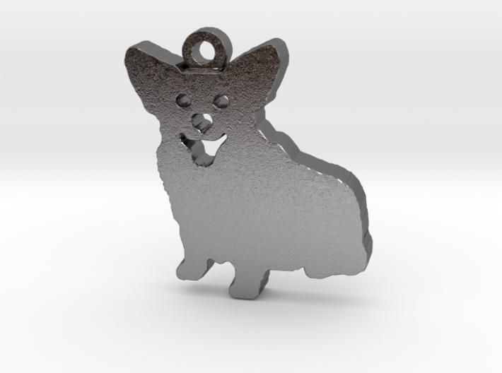 Smiling Corgi (with ring) 3d printed