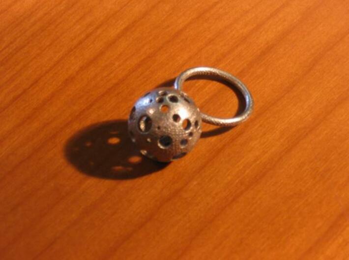 Large Moonball Ring 3d printed Actual Photo 2