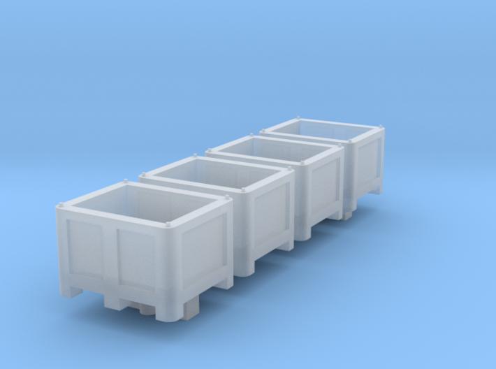 N Scale Palletbox (4pc) 3d printed