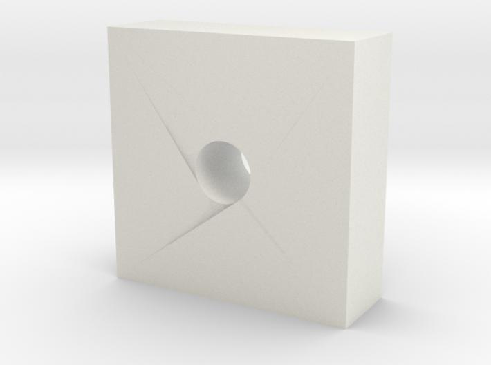 6x6x2mm Barrel Lock block 3d printed