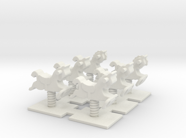 Playground Spring 01. HO Scale (1:87) 3d printed