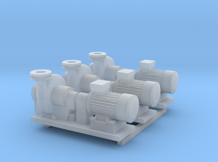 Centrifugal Pump #2 (Size 3 3pc) 3d printed