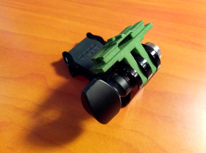 Contour Cam to GoPro Mount Adapter (Side Tilting) 3d printed