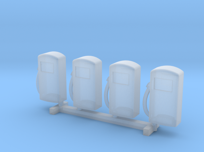N Scale '60s Gas Pumps 4pc 3d printed