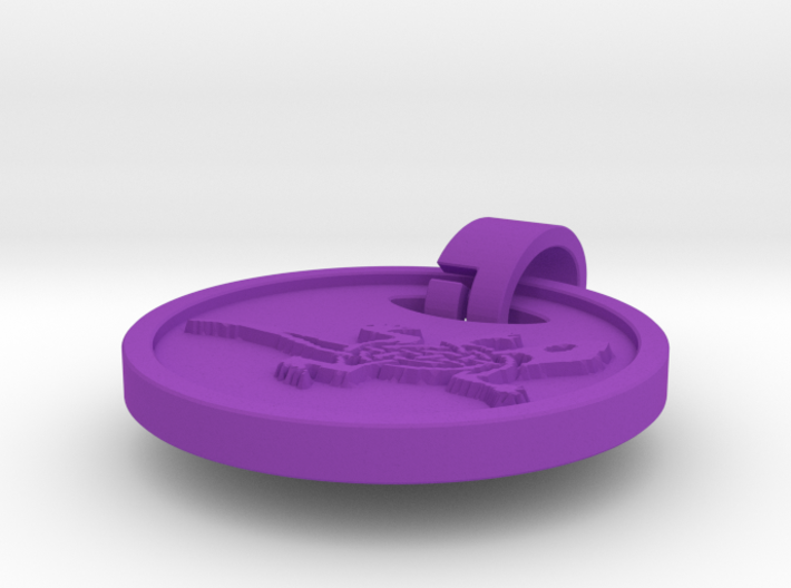 Euro Shopping Cart Coin with Lizard 3d printed