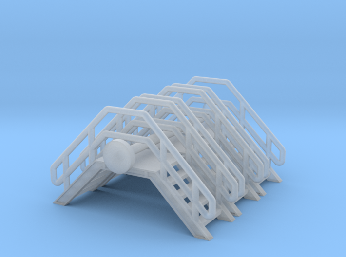N Scale Crossover Stairs (3pc) 3d printed