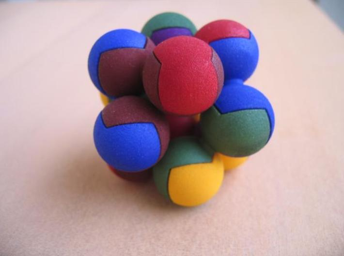 Peanut puzzle 2.5cm 3d printed With two sets, many other shapes can be assembled.
