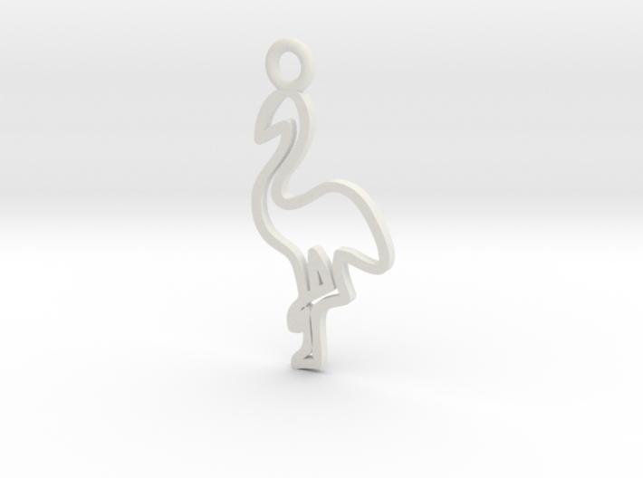 Flamingo Charm! 3d printed