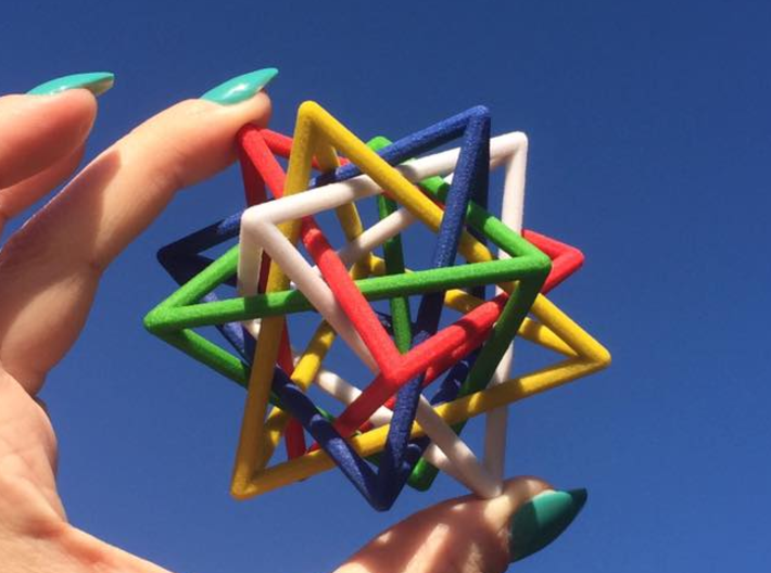 Interlaced Tetrahedrons 3 Inch x 3 Inch 3d printed