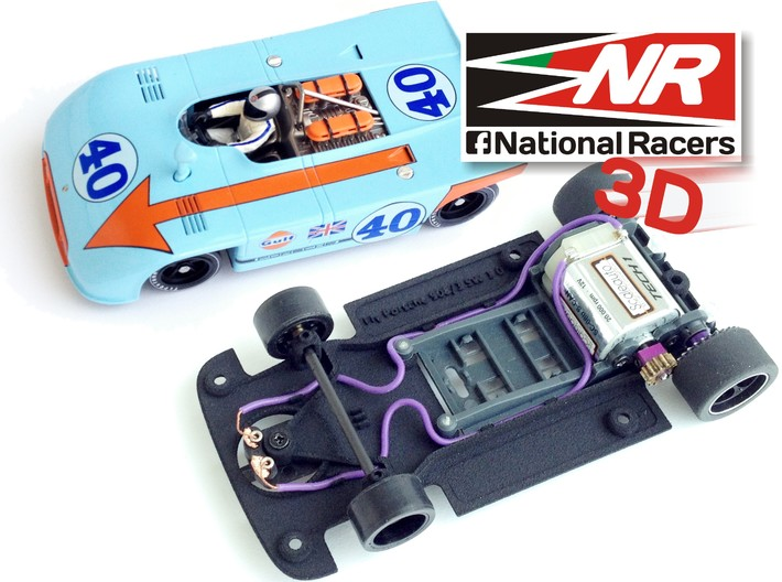 3D chassis for Fly Porsche 908-3 SW 3d printed Chassis compatible with Fly model (slot car and other parts not included)