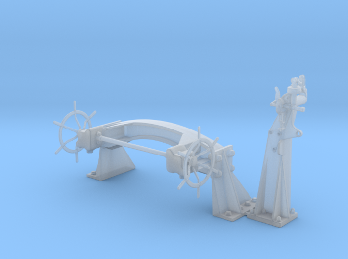 US 16in Model E Railway cannon - detail set #1 1/7 3d printed
