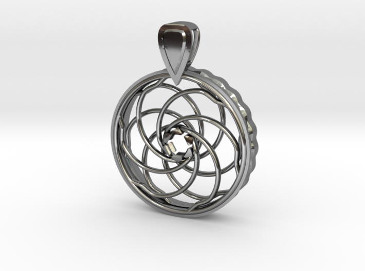 COMING SOON - Iris Pendant For 10mm CZs 3d printed