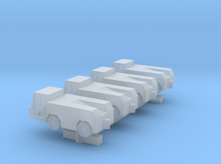 GSE Airport Tow Tractor 1:400 4pc 3d printed
