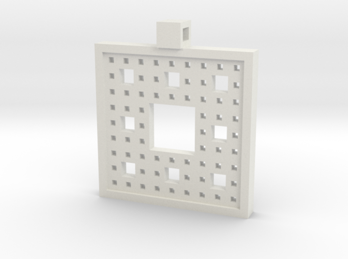 Square Fractal Pendant 3d printed