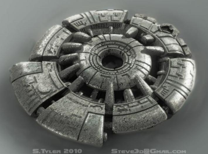 Ancient Tech Medallion 3d printed Description