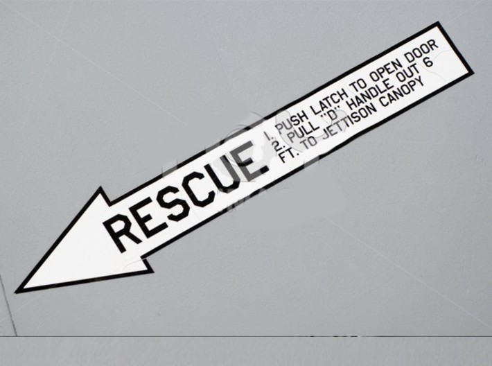 4 inch KeyChain RESCUE Grey-Grey Sign 3d printed