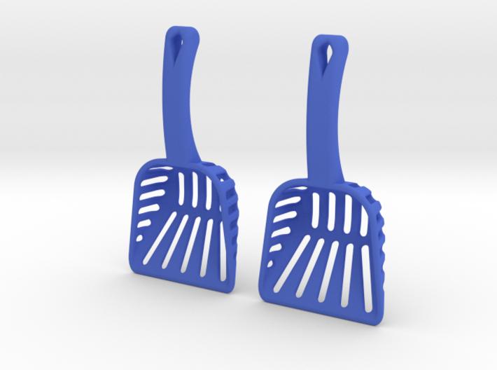 Litter Box Scoop Earrings 3d printed