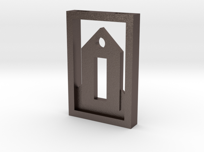 Tiny House Pendant Framed 3d printed