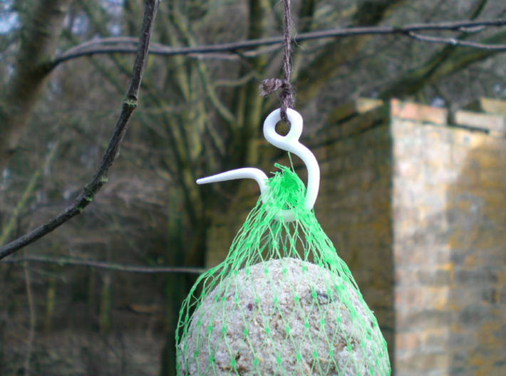 Birdfeed Ball Hook 3d printed