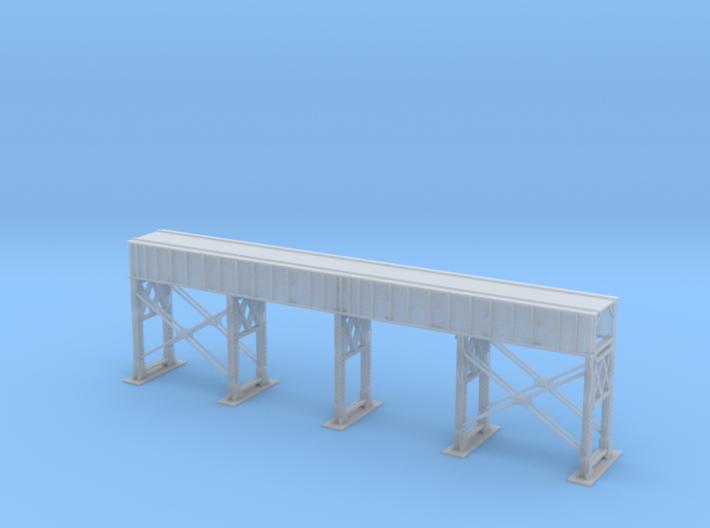 Single Track Steel Bridge Z Scale 3d printed Single Track Bridge Steel Z scale