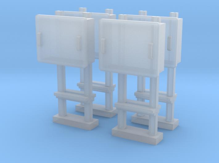 TJ-H04679x4 - Boitiers STM sur poteaux métalliques 3d printed