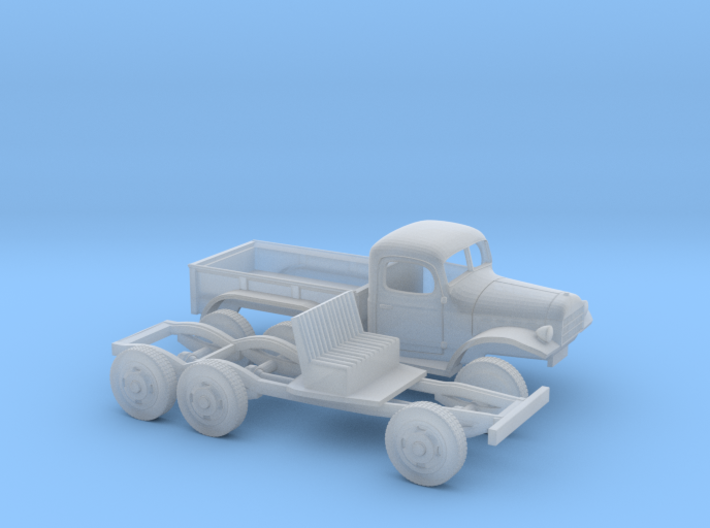 1/160 1945-50 Dodge Power Wagon 6X6 3d printed