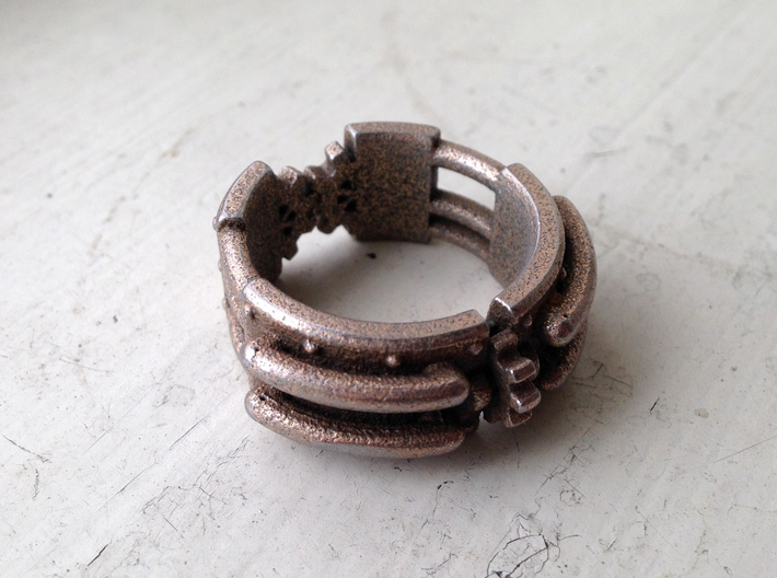 Epic Steampunk Ring 3d printed