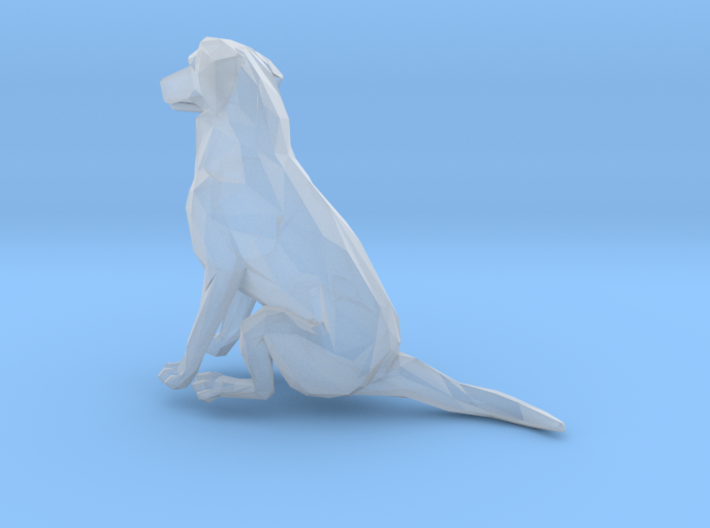 Dog American Staffordshire Sitting S-Scale 3d printed