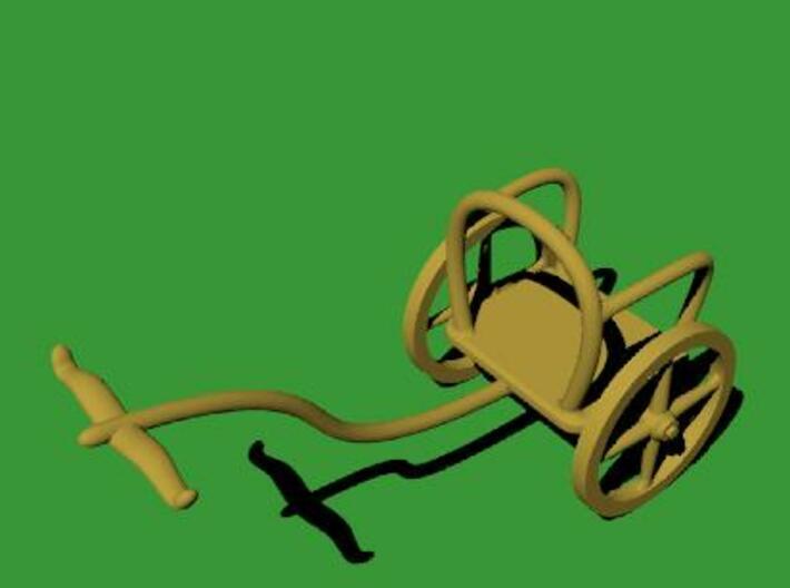 Mycenaean Rail Chariot 3d printed Mycenaean Rail Chariot