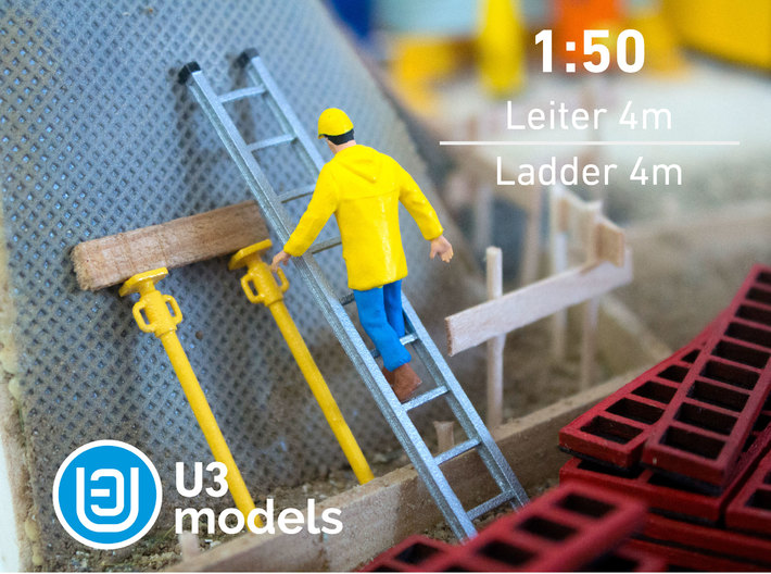 1:50 4M Leiter / Ladder / Escalera 3d printed Stainless Steel