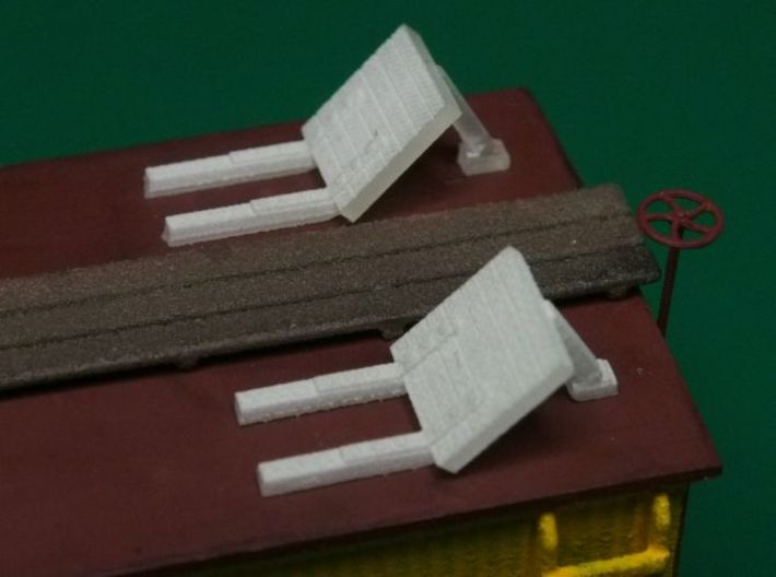 HO scale Reefer Hatches (open) x8 3d printed
