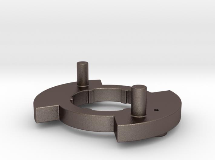 """Gen 3 Disk """"R"""" Stainless Steel 3d printed"""