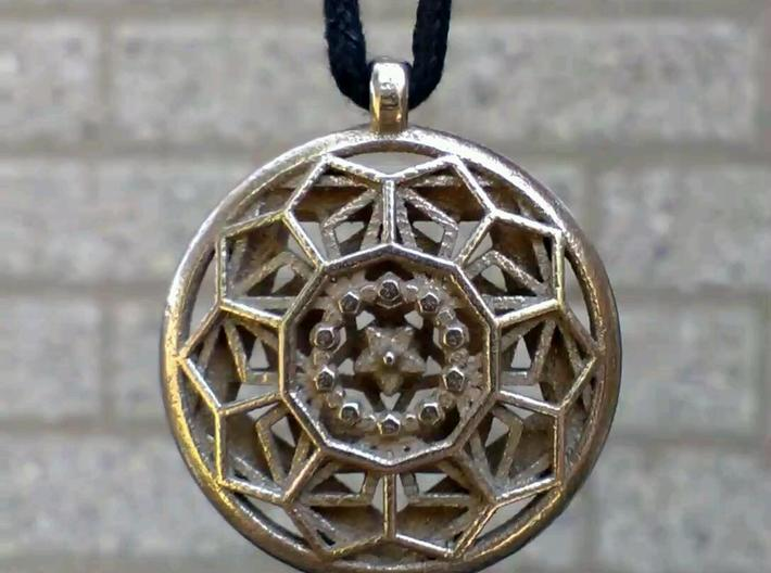 Dodecastar Pendant 3d printed Front