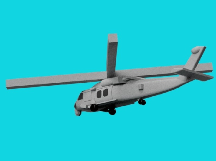 1/1800 Aircraft set for Nimitz class 3d printed MH-60S Knighthawk. Computer software render.The actual model is not full color.