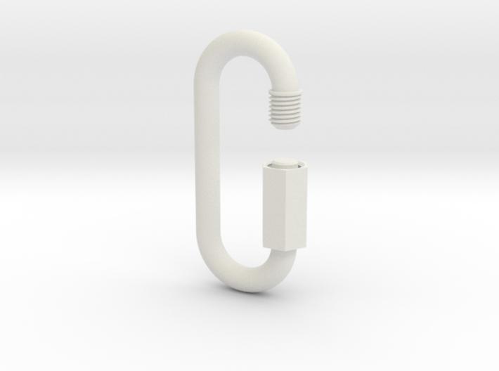 Carabiner / link of an infinite chain 3d printed