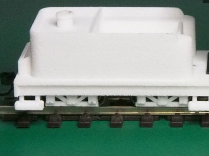 Small 8 wheel Tender for HOn30 F&C loco, ver.A 3d printed This is what you get (the white bits)