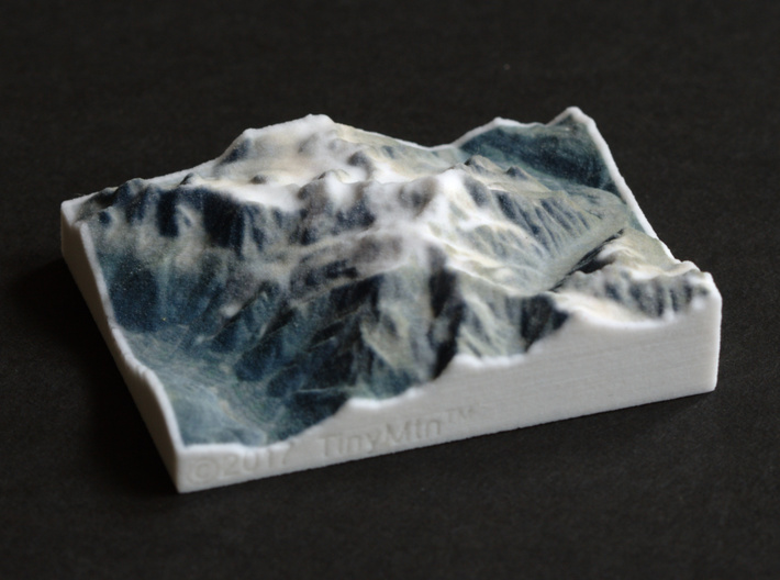 Mont Blanc, France/Italy, 1:250000 Explorer 3d printed
