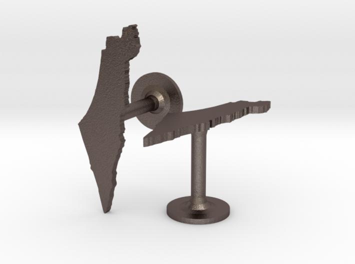 Israel Cufflinks 3d printed