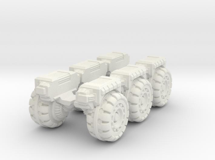 RUMV-Six Pack Of Wheels 3d printed