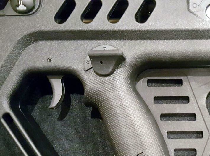 Tavor Thumb Rest Safety - Left-handed 3d printed