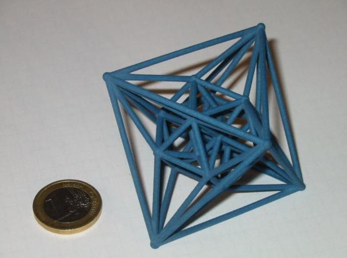 24-cell 3d printed 24-cell and 1 euro coin