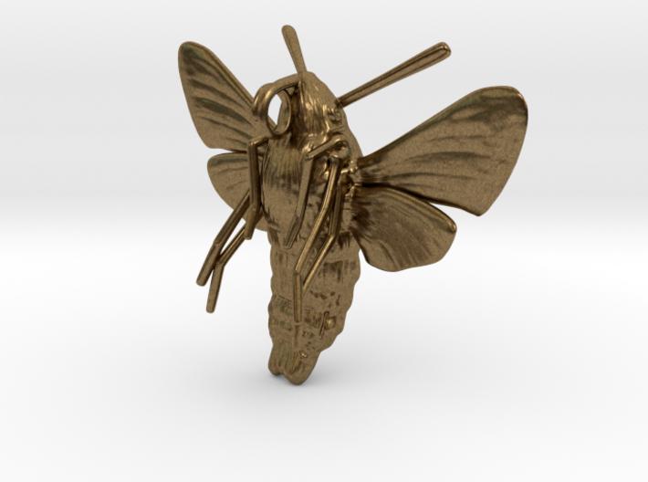 Hummingbird Hawk-Moth Pendant (solid version) 3d printed