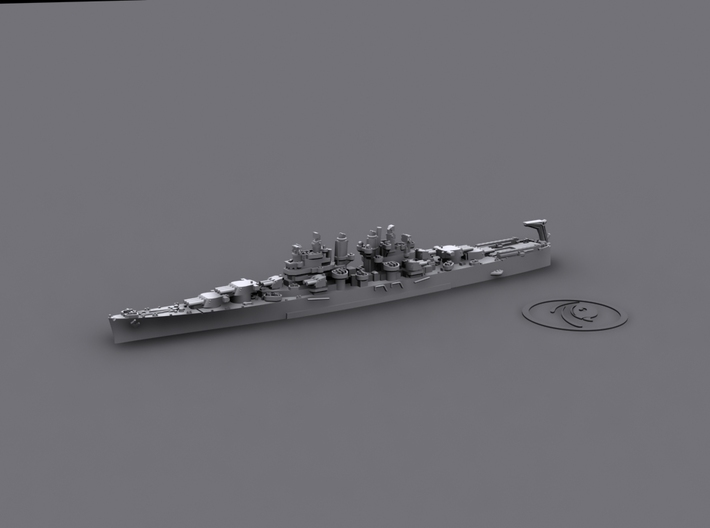 US Cleveland-class Light Cruisers (7 ships) 3d printed USS Miami[1944] (port)