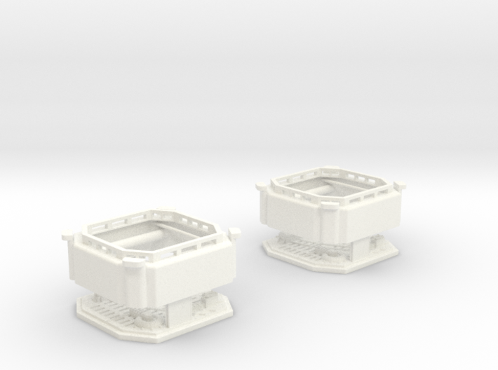 DeAgo Millennium Falcon Maintenance pits ver. B 3d printed