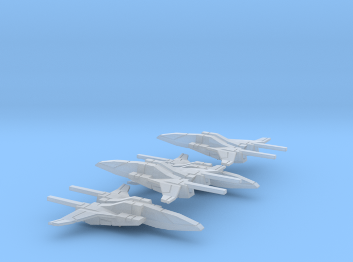 Space Fighter Type-B, 4-Pack 3d printed