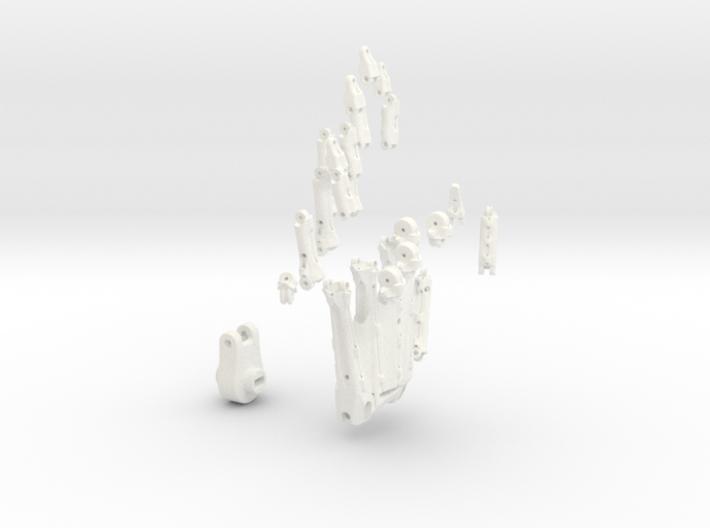 Animatronik Hand links 3d printed