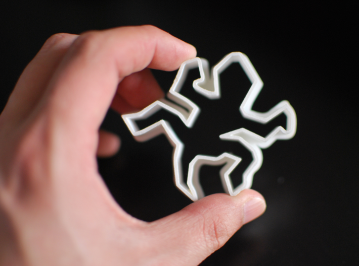 Escher-esque Famous Lizards Cookie Cutter 3d printed The thinner walls are a sturdy 1.0mm