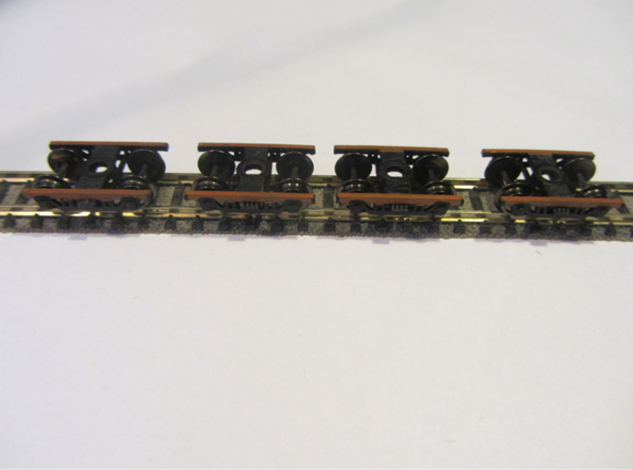 4x 2.5m Træbogie N scale 3d printed paint not included bare print only