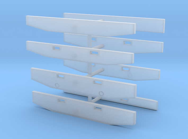 1/64th Semi Truck Bumpers, set of 8 3d printed