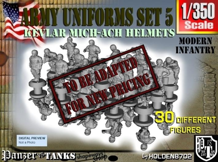 1-350 Army Modern Uniforms Set5 3d printed
